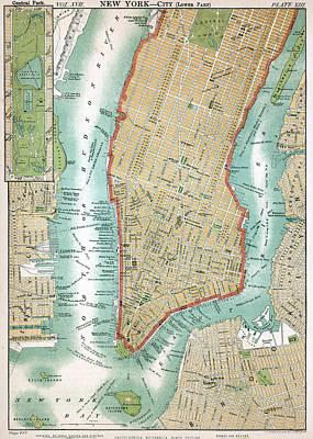 Lower Manhattan, C. 1890 Art Print by Kean Collection
