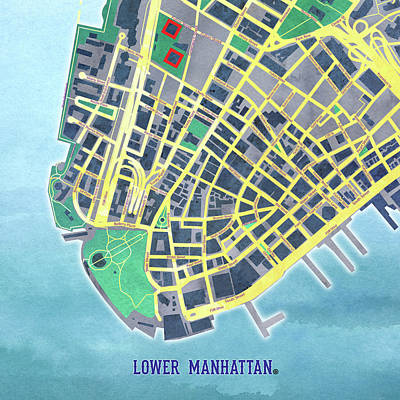 Digital Art - Lower Manhattan by Gary Grayson