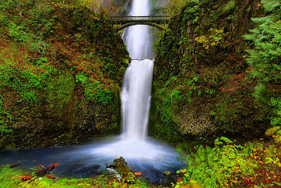 Photograph - Lower Multnomah Falls by PhotoWorks By Don Hoekwater