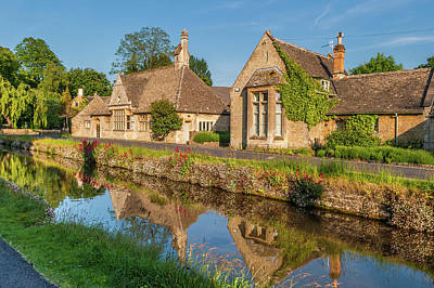 Lower Slaughter And The River Eye Art Print by David Ross