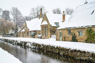 Photograph - Lower Slaughter Village In Winter  by Tim Gainey