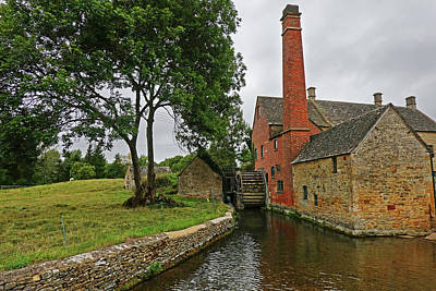 Photograph - Lower Slaughter Waterwheel Cotswolds England by Toby McGuire