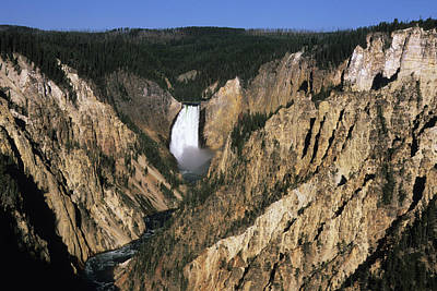 Photograph - Lower Yellowstone Falls by Aimintang