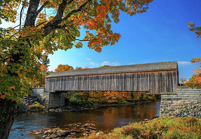 Photograph - Lowes Covered Bridge In Autumn by Dan Sproul