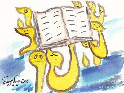Painting - L'shana Tova  Book Of Life by Hebrewletters Sl