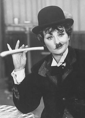 Photograph - Lucille Ball Dressed As Charlie Chaplin by Ralph Crane