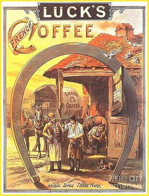 Painting - Luck's Coffee Sign by John Lyes
