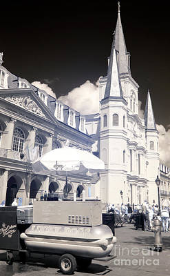 Lucky Dogs Wall Art - Photograph - Lucky Dogs In Jackson Square New Orleans Infrared by John Rizzuto