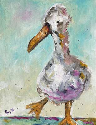 Contemporary Painting - Lucky Duck by Roxy Rich