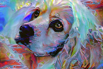 Digital Art - Lucky The Cocker Spaniel by Peggy Collins