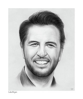 Drawings Rights Managed Images - Luke Bryan Royalty-Free Image by Greg Joens