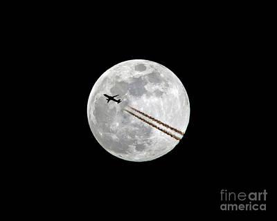 Lunar Photobomb Art Print