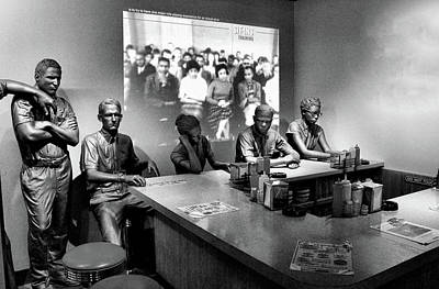 Photograph - Lunch Counter Sit In by Allen Beatty