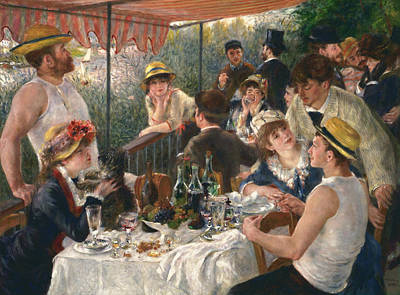 Luncheon Of The Boating Party, 1880-1881 Art Print