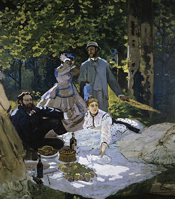 Painting - Luncheon On The Grass By Claude Monet by Peter Willi
