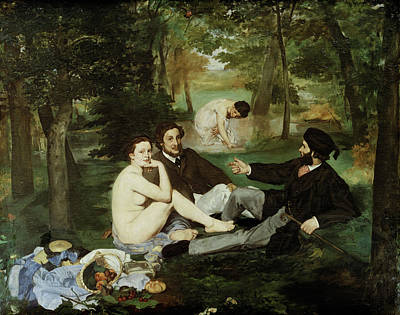 Painting - Luncheon On The Grass By Edouard Manet by Peter Willi