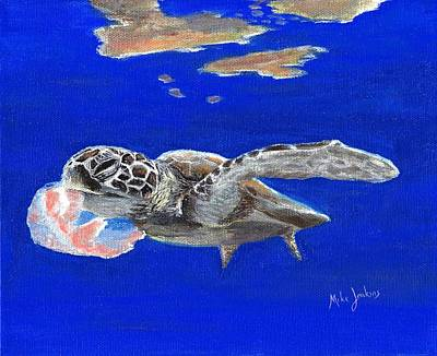 Painting - Lunchtime on the Reef 1 by Mike Jenkins