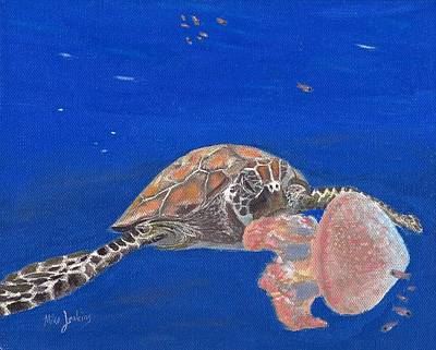 Painting - Lunchtime on the Reef 2 by Mike Jenkins