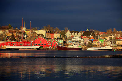 Photograph - Lunenburg In Winter by Gary Corbett