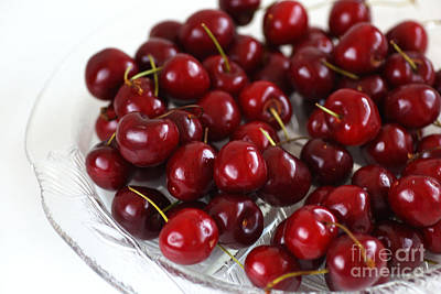Photograph - Lush Red Summer Cherries by Joy Watson