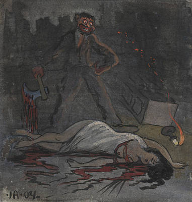 Drawing - Lust Killer by Ivar Arosenius