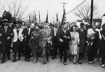 Photograph - Luther King Marches by William Lovelace
