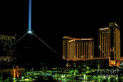 Photograph - Luxor - Mandalay Bay At Night Las Vegas by Sanjeev Singhal
