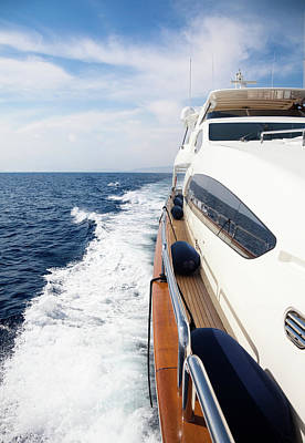 Recreational Boat Photograph - Luxury Yacht Sailing At Sea by Petreplesea