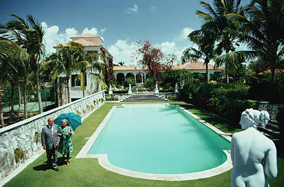 Two People Photograph - Lyford Cay by Slim Aarons