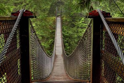 Photograph - Lynn Creek Suspension Bridge by Photo By Gordon Ashby