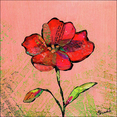 Target Threshold Painterly - Lyrical Poppy II by Shadia Derbyshire