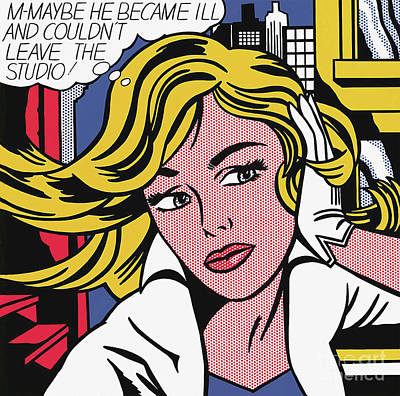 Pop Art Royalty-Free and Rights-Managed Images - M-Maybe  by Doc Braham - In Tribute to Roy Lichtenstein