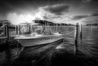 Photograph - M T Pockets At The Marina In Black And White by Debra and Dave Vanderlaan