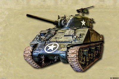 Photograph -  M4 Sherman Canvas by Weston Westmoreland