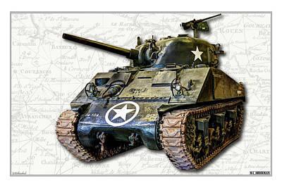 Photograph -  M4 Sherman Map by Weston Westmoreland