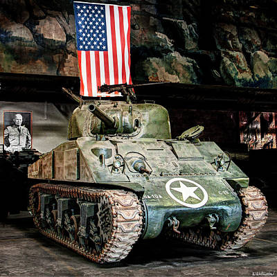 Photograph -  M4 Sherman Old Glory by Weston Westmoreland