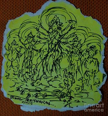 Painting - Ma Durga-2 by Tamal Sen Sharma