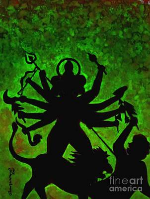 Painting - Ma Durga-4 by Tamal Sen Sharma