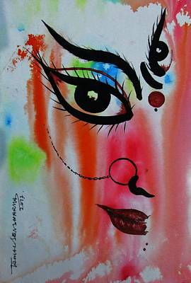 Painting - Ma Durga-5 by Tamal Sen Sharma
