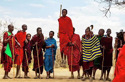 Photograph - Maasai Jumping Dance by Kay Brewer