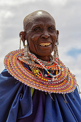Photograph - Maasai Woman In Tanzania by Kay Brewer