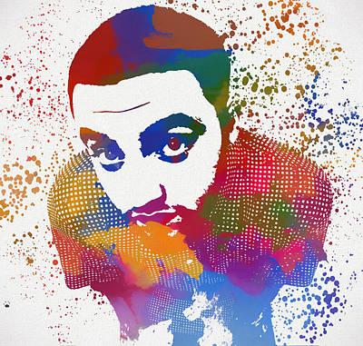 Painting - Mac Miller Color Splatter by Dan Sproul
