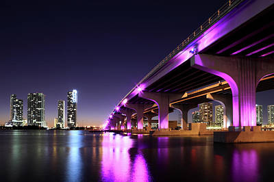 Photograph - Macarthur Causeway And Miami, Florida by Jumper