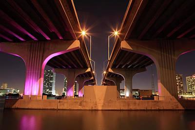 Macarthur Wall Art - Photograph - Macarthur Causeway, Miami, Florida by Jumper