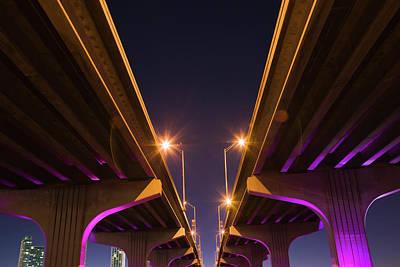Macarthur Wall Art - Photograph - Macarthur Causeway Seen From Underneath by Juan Silva
