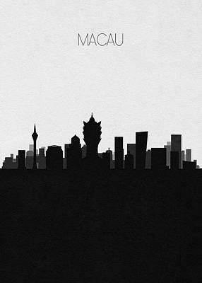 Digital Art - Macau Cityscape Art by Inspirowl Design