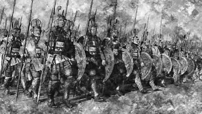 Painting - Macedonian Guard - 01 by Andrea Mazzocchetti
