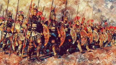 Painting - Macedonian Guard - 02 by Andrea Mazzocchetti