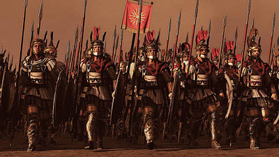 Painting - Macedonian Phalanx At War - 01 by Andrea Mazzocchetti