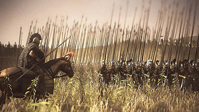Painting - Macedonian Phalanx At War - 02 by Andrea Mazzocchetti